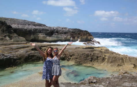 Claire O'Brien and Irish Kulas traveled down to Harbour Island in the Bahamas for their spring break.