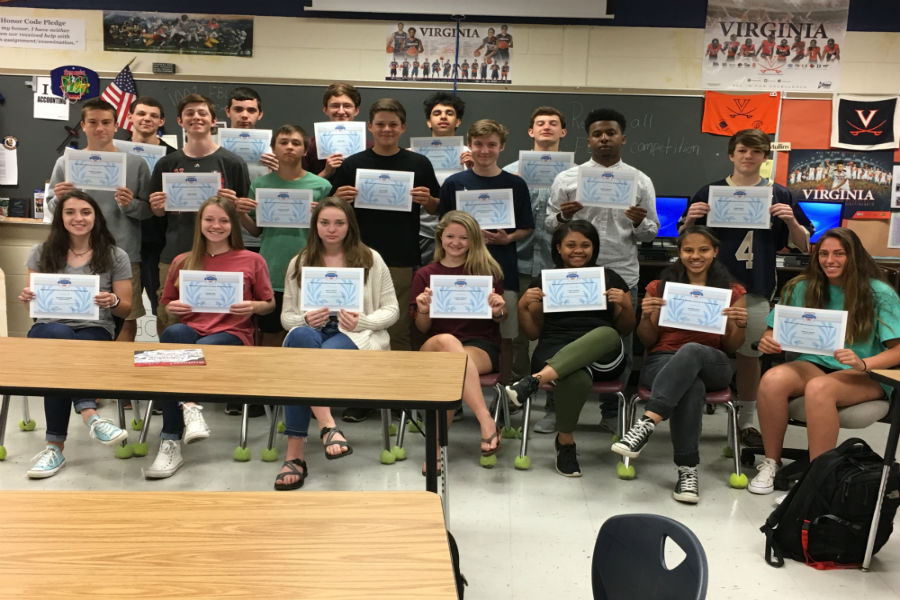 Mrs. Mullins' Sports & Entertainment Marketing students obtained the National Retail Federation Certification in Customer Sales & Service.