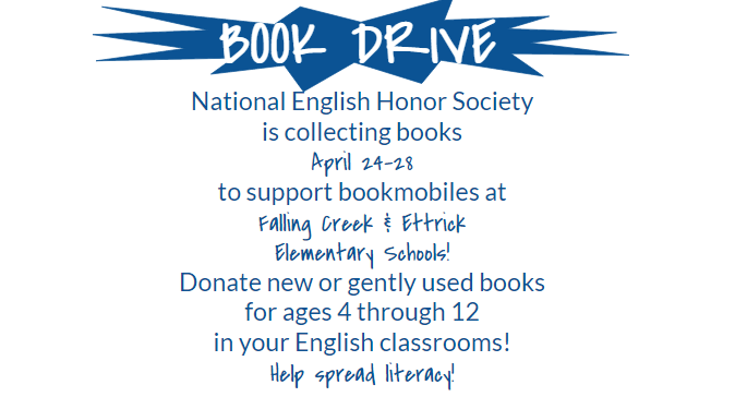 Please+donate+books+to+the+National+English+Honors+Society+Book+Drive.
