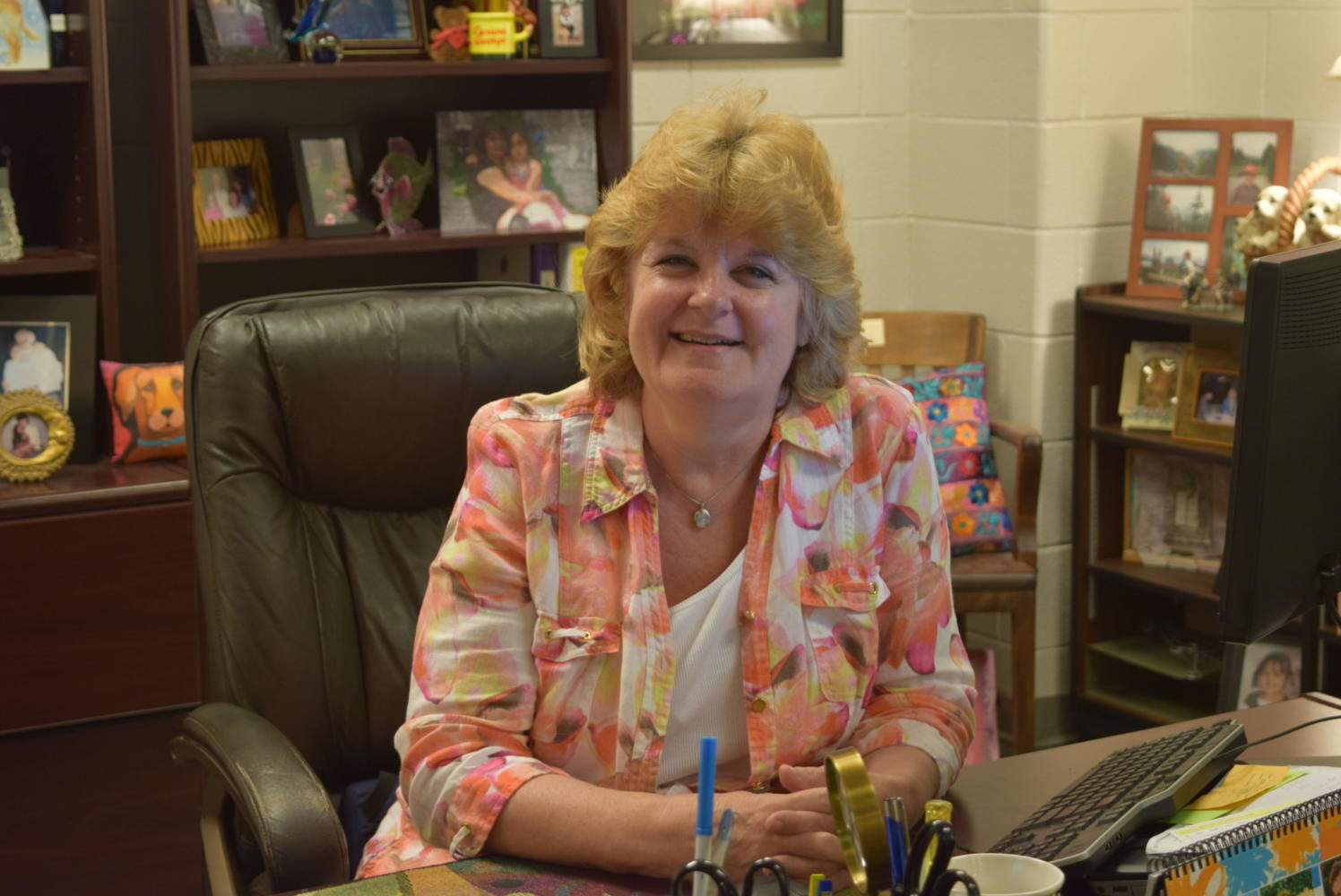 Mrs. Birdsong works diligently to ensure student success at Midlothian High School.