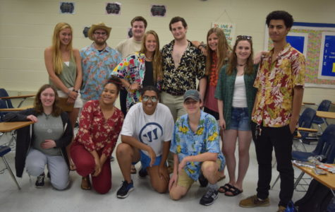 Seniors go all out on Beach Day.