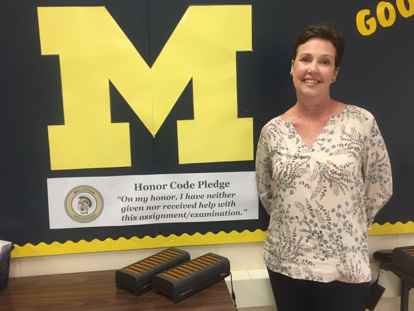 Mrs. Karen Satchell celebrates her years at Midlothian High School.