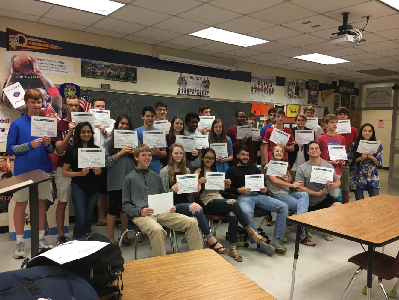 Congratulations to the following 26 students in Mrs. Mullins' Honors Accounting class, who received their NOCTI Accounting certification this spring and passed this exam.