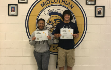 Lauren Roper and Matthew Rice are the 2017 May Students of the Month.
