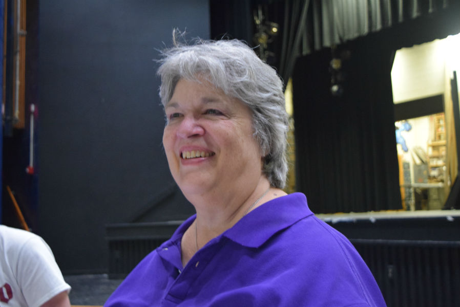 Midlo Theatre teacher Mrs. Katherine Baugher earns September Employee of the Month recognition.