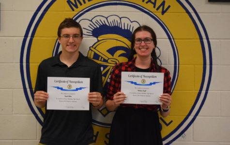 Truitt Eliot and Melanie Raff - September Students of the Month (2017)