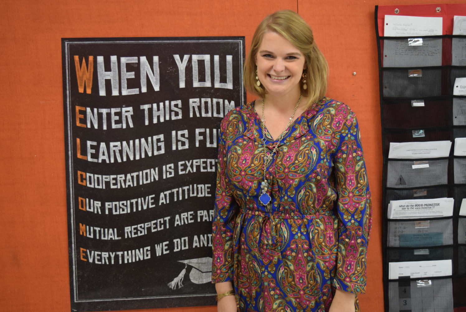 Mrs. Hall is excited to begin the new school year at Midlo.