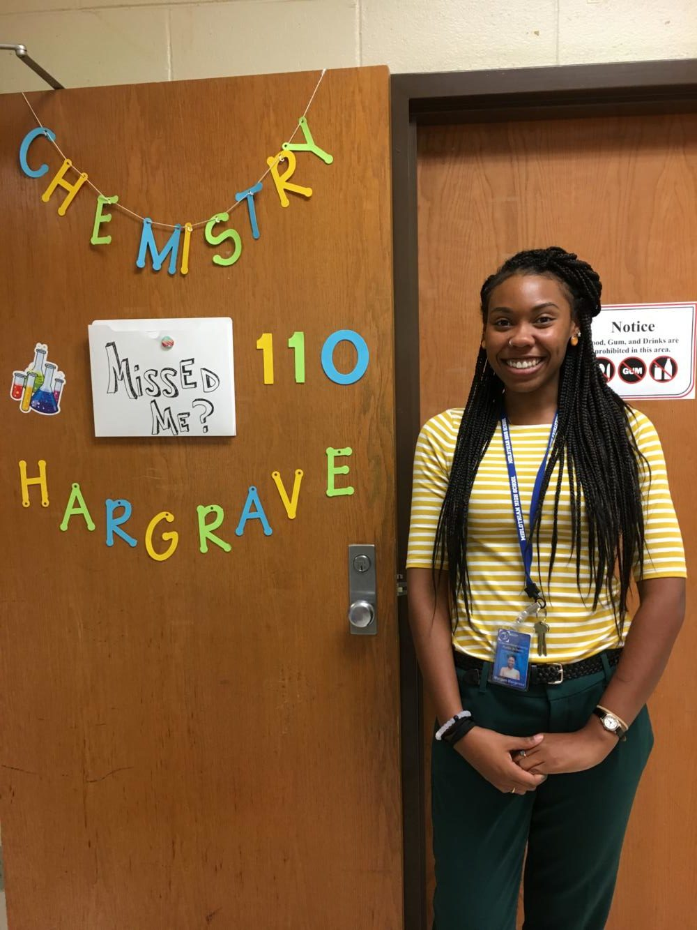 Ms. Hargrave is excited to teach chemistry this year!