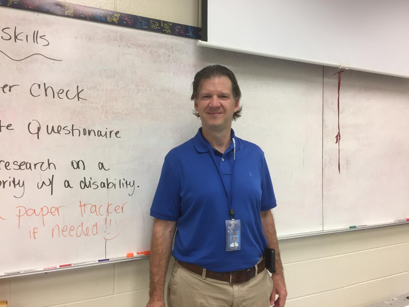 Mr. Peter Nalls, who teaches American Sign Language, begins his career at Midlo.