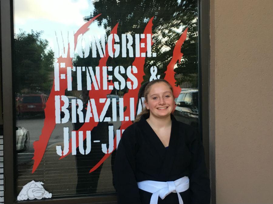 Freshman+Emily+Gundel+holds+a+second+degree+black+belt.