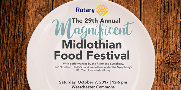 Midlothian Food Festival Flyer