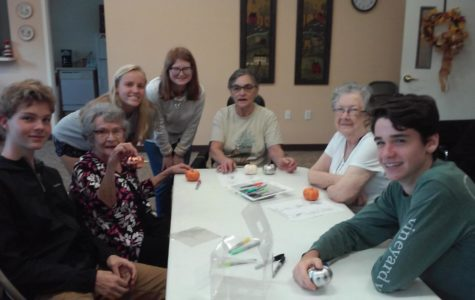 Midlo Latin Club Visits a Local Nursing Home