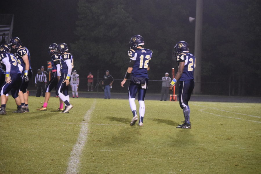 Midlothian offense sets up for a play.