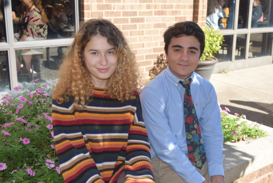 Seniors Marion Cline and Vincent Mangano love the changes brought on by the new season.