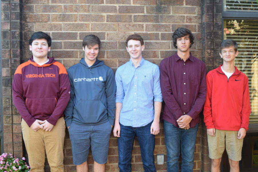 Midlothian High School Apothecary Employees: Ryan Klaiber, Bradly Lipsteuer, Drew Mayo, Jake Petrillo, and Luke Manheim.