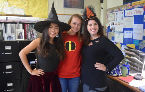 Joy Li, Erin Junkmann, and Mrs. Jacqueline Tully love Halloween!