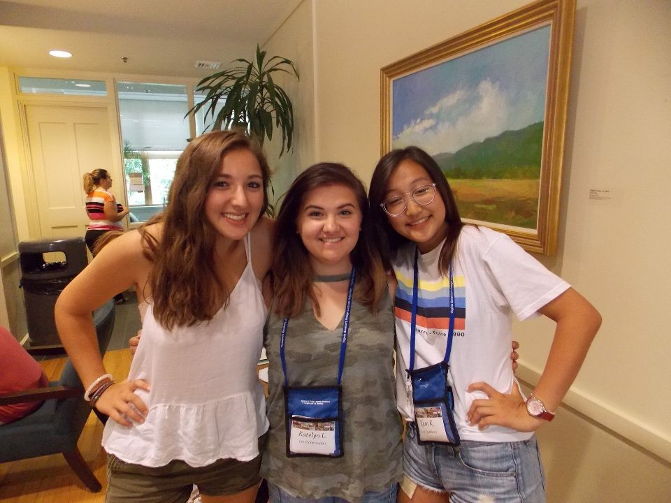 Elena McCoy and friends enjoyed the French Academy this summer.