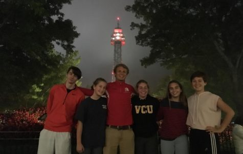 Marisa Ruotolo and friends spend the evening at the Haunt at Kings Dominion.