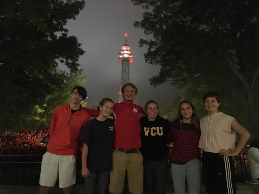 Marisa+Ruotolo+and+friends+spend+the+evening+at+the+Haunt+at+Kings+Dominion.