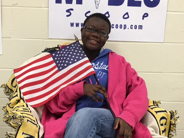 On October 13, 2017, Ntirampeba Joseline, a freshman at Midlo, officially became a U.S. Citizen.