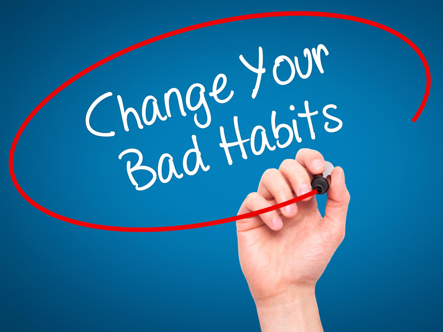 Changing bad habits to good habits can be easy with determination.