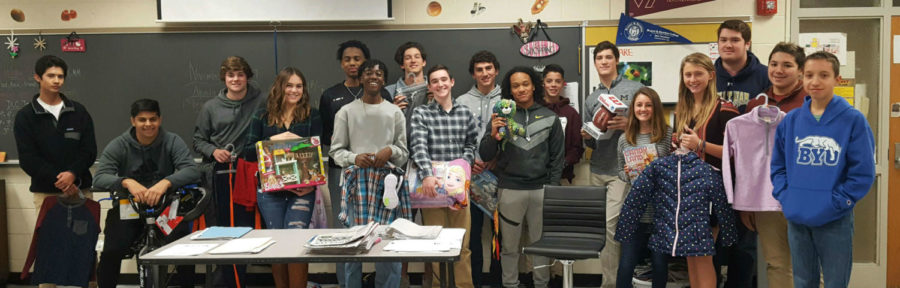 Many students in Mrs. Carolyn Manheim's first period class contributed to the DECA Angel Tree.