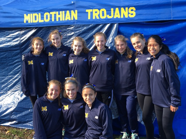 The Midlo Girls celebrate many excellent performances at the State tournament at Great Meadows.