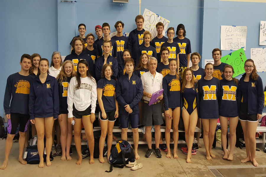Midlothian High School Swim Team 2016-2017