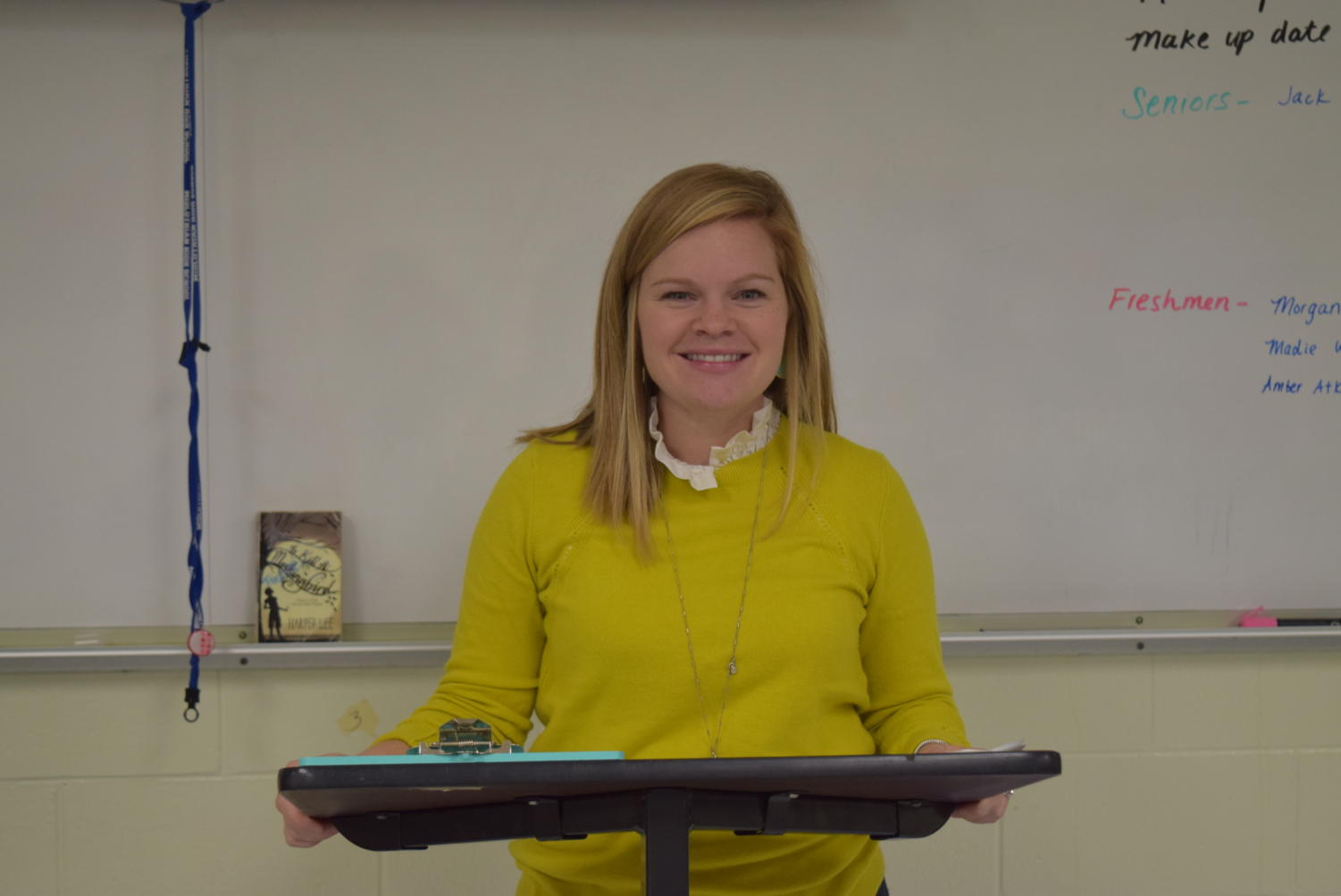 Mrs. Palenski feels excited to return to her classroom.
