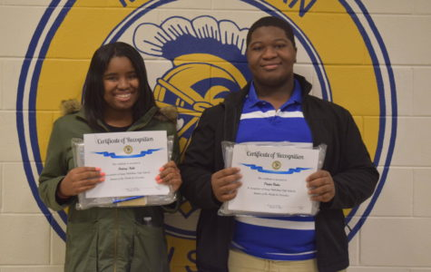 Congratulations, December Students of the Month, Praise Buba and Britney Auld.