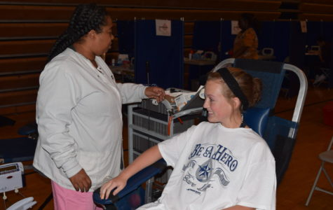 Lauren Lingle gets her blood drawn for the first time.