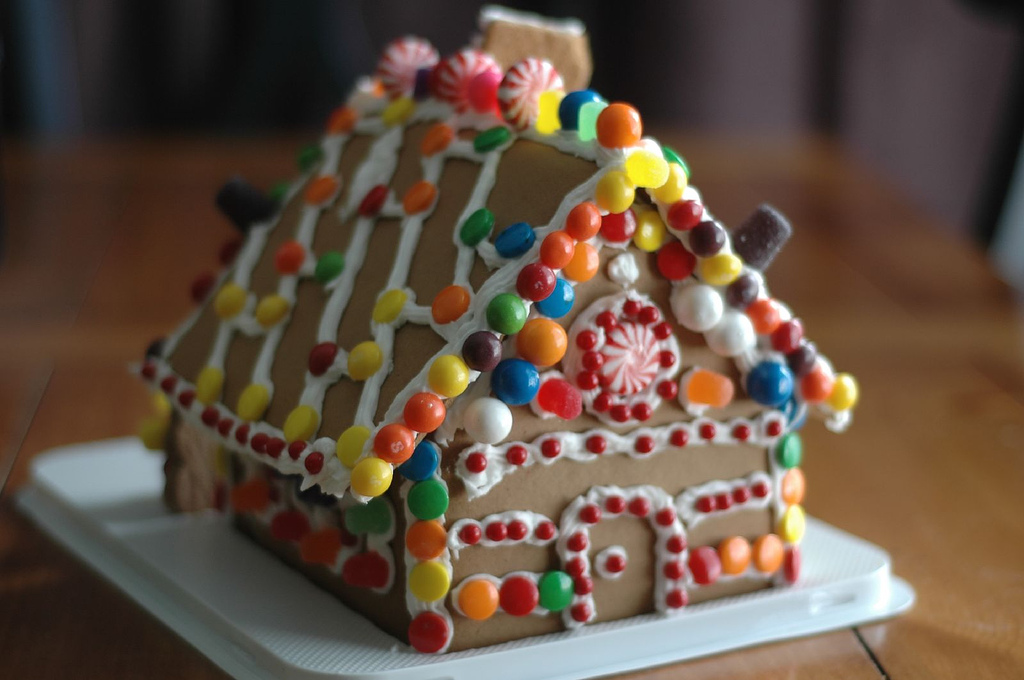 Making a gingerbread house is a simple but enjoyable way to celebrate Christmas.