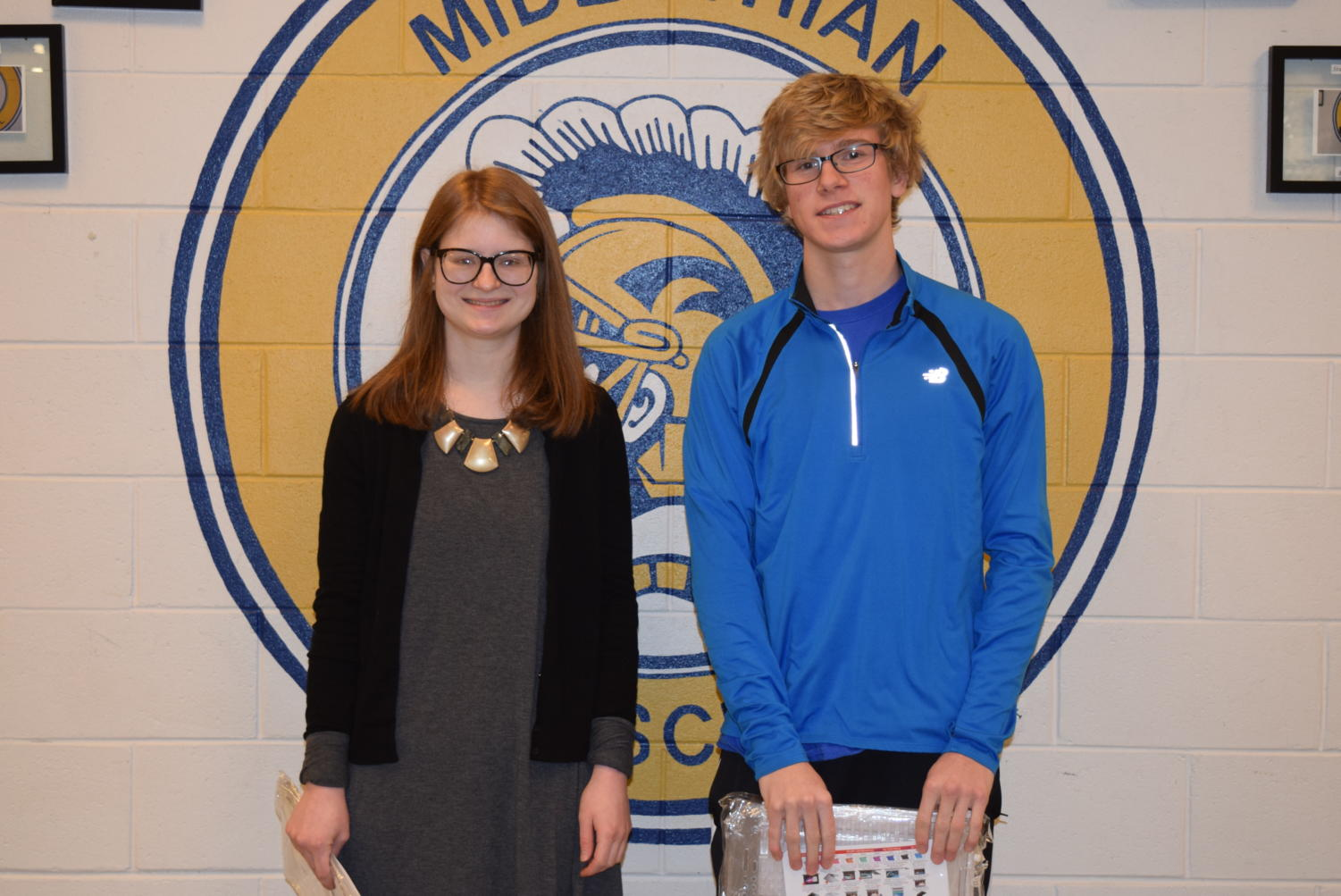 Congratulations, @GoMidlo January Students of the Month: Liza Wimbish and Bradley Fellstrom