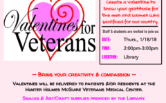 Library Hosts Valentines for Veterans Event