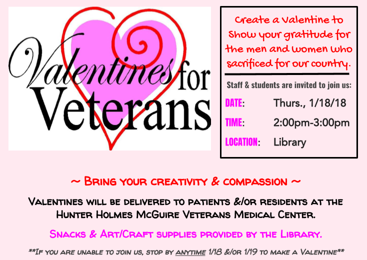 Attend+the+Valentines+for+Veterans+event+in+the+library+on+Thursday%2C+January+18%2C+at+2%3A00%21