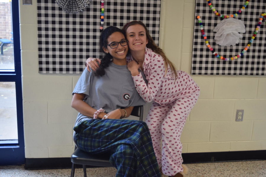 Lex Kelly and Haley Hopkins wear their favorite pajamas.