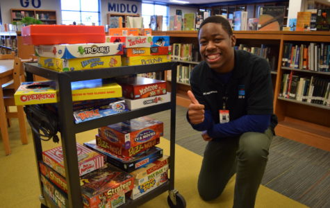 Kwama Nelson enjoys the selection of games that he can choose from.