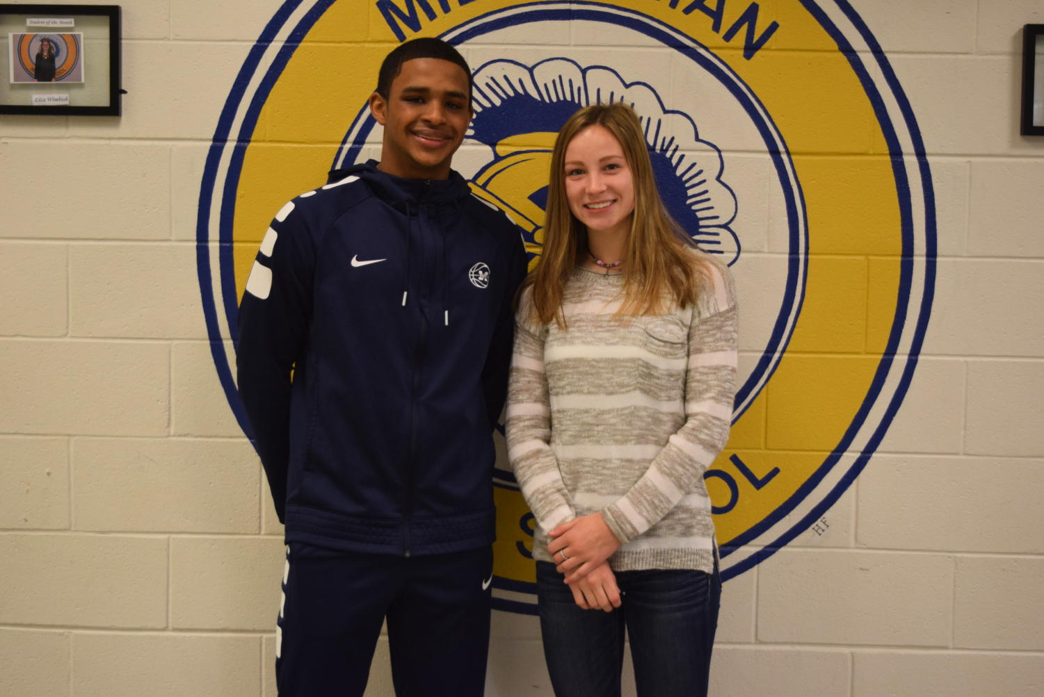Congratulations, @GoMidlo February Students of the Month: Justin Penn and Katie Daniluk.