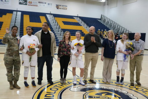 Lady Trojans Basketball Recognizes Seniors