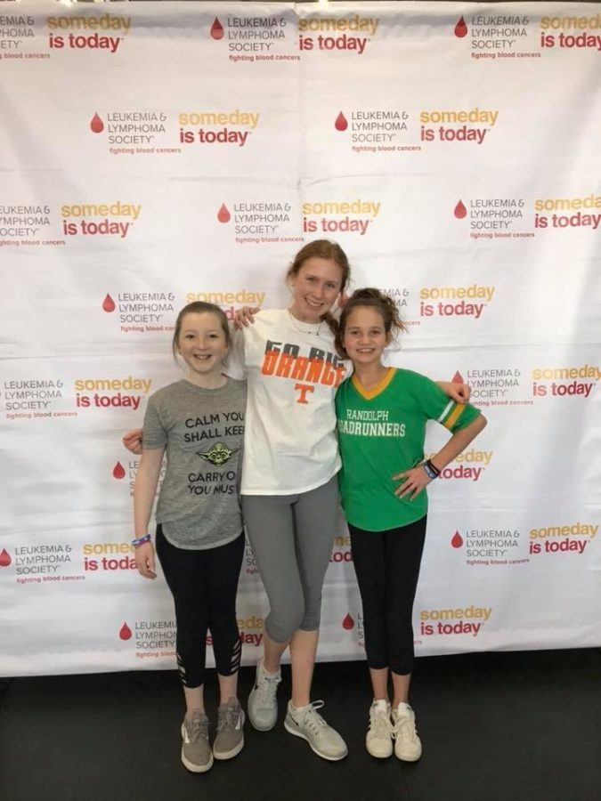 Maggie McDermott spends her day with LLS sufferers, Savanna and Campbell.