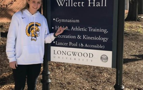 Midlo sophomore Cameron Long attends an Athletic Training Workshop at Longwood University.