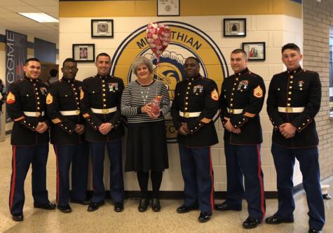 Marines Deliver Special Valentine