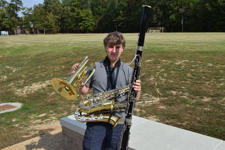 Matthew Tignor shows off his musical ability and his passion to strive for greatness.