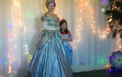 Meredith Puster as Cinderella at Castle Rock Party Center.