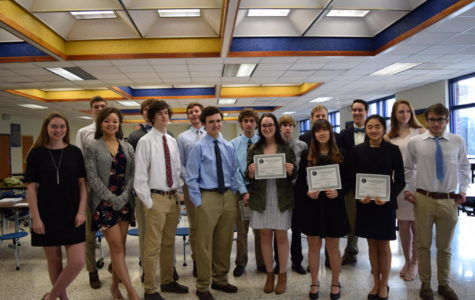 National Business Honor Society inductees celebrate their incredible accomplishments during a reception during Midlo Morning.