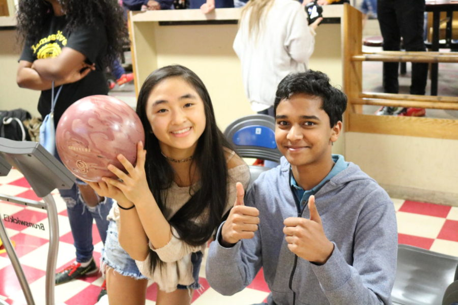 Junior Class Officers, Da-lan Pham and Sujeet Alwin, represent Midlothian at Strike Out Cancer.