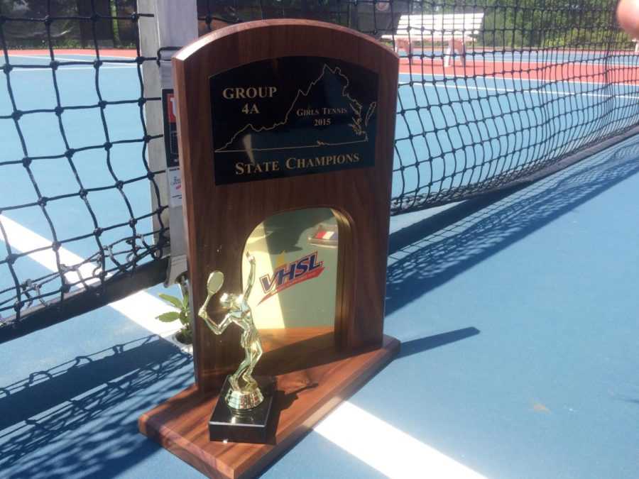 The+Midlothian+High+School+Girls+Varsity+Tennis+Team+won+the+state+championship+3+years+in+a+row.