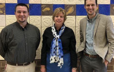 All three musical teachers, Mr. Gordon Rawls, Mrs. Michelle Graham, and Mr. Taylor Fletcher, proudly earn the title of Blue Ribbon School.