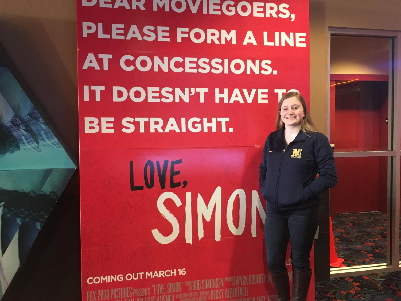 Emily Gundel prepares to watch Love, Simon