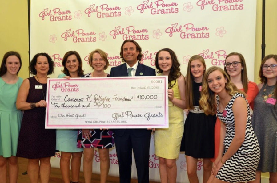 Girl+Power+Grants+donates+%2410%2C000+to+the+Cameron+K.+Gallagher+Foundation.